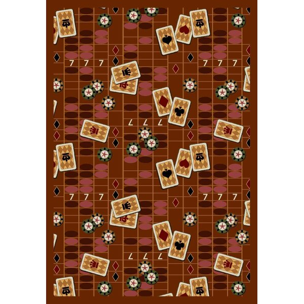 Rust Feeling Lucky Area Rug by The Conestoga Trading Co.