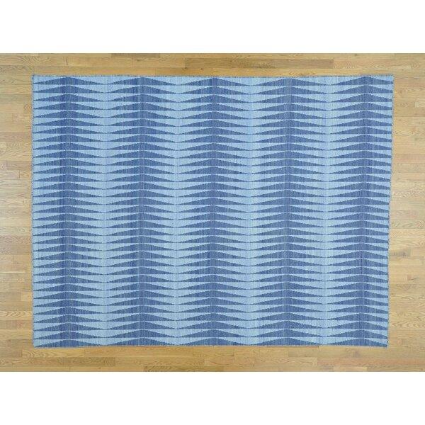One-of-a-Kind Botelho Reversible Handmade Kilim Wool Area Rug by Isabelline