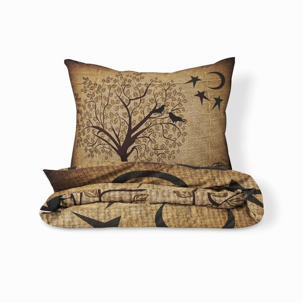 Chewning Burlap Grow Old with Me Duvet Cover Set
