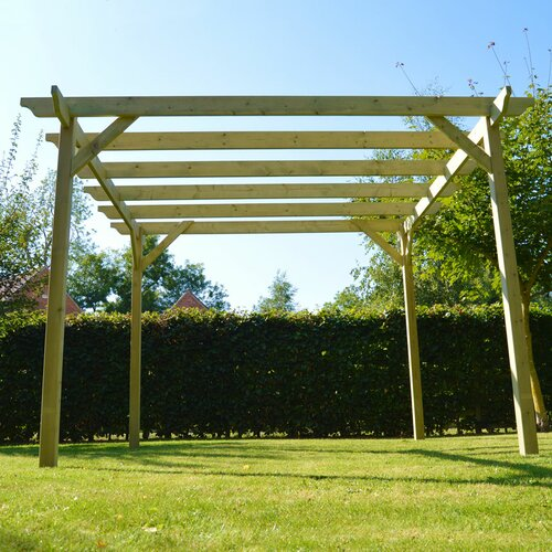 Pollitt Manufactured Wood Pergola Dakota Fields Colour: Light Green, Size: 248cm H x 240cm W x 240cm D