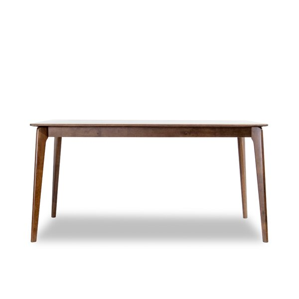 Bairoil Rubberwood Solid Wood Dining Table by George Oliver George Oliver