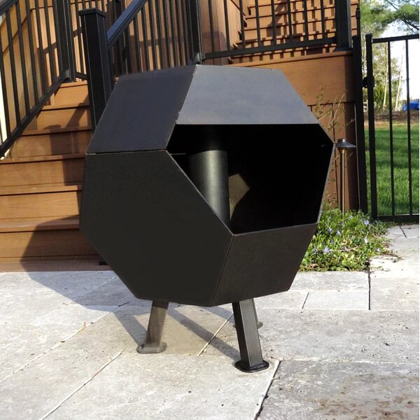 Octo Steel Wood Burning Fire Pit by Cavo Design
