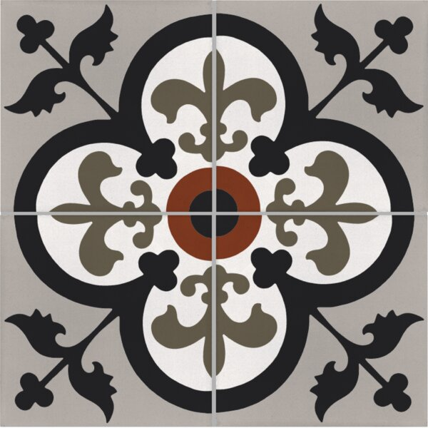 Raven 8 x 8 Cement Patterned Wall & Floor Tile