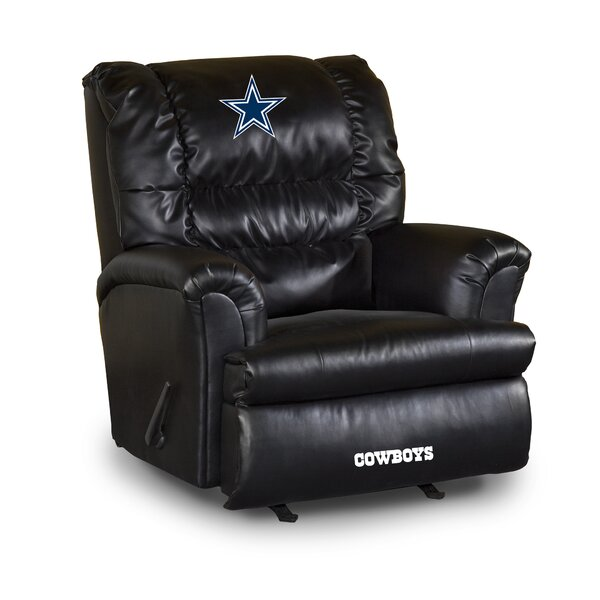 NFL Leather Manual Swivel Glider Recliner by Imper