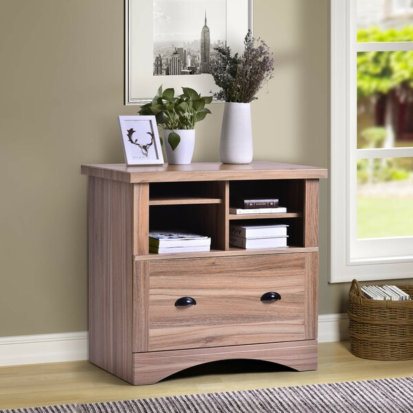 Sublett 1-Drawer Wood with Two Adjustable Shelves and Lock Lateral Filing Cabinet