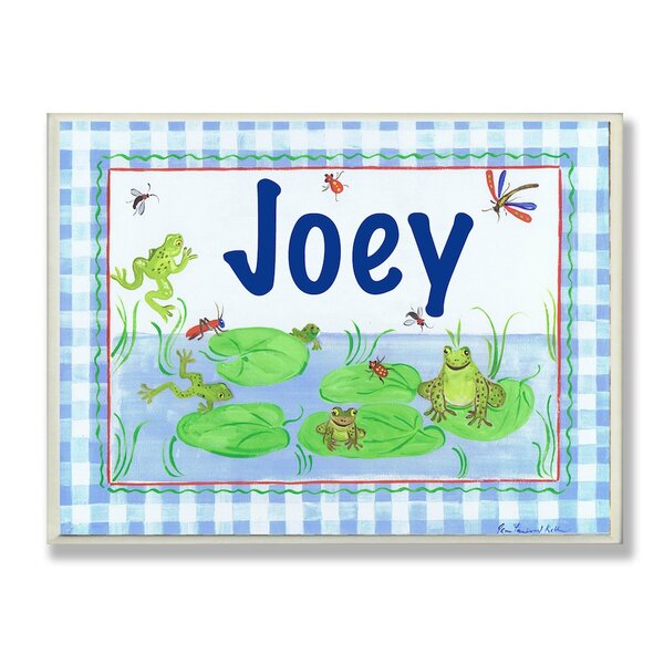Kids Room Personalization Frog Wall Plaque by Stupell Industries
