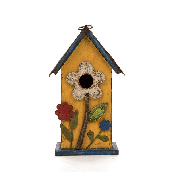 Hanging Flower 10 in x 4 in x 6 in Birdhouse by Glitzhome