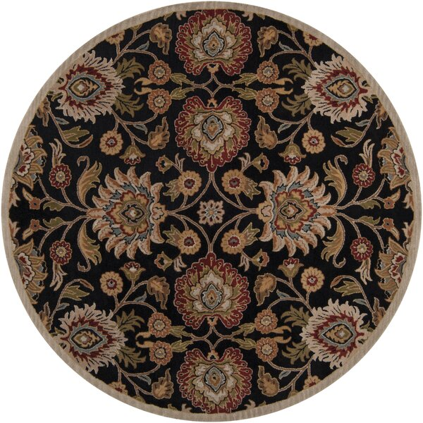 Ferrer Hand-Tufted Black Area Rug by Darby Home Co