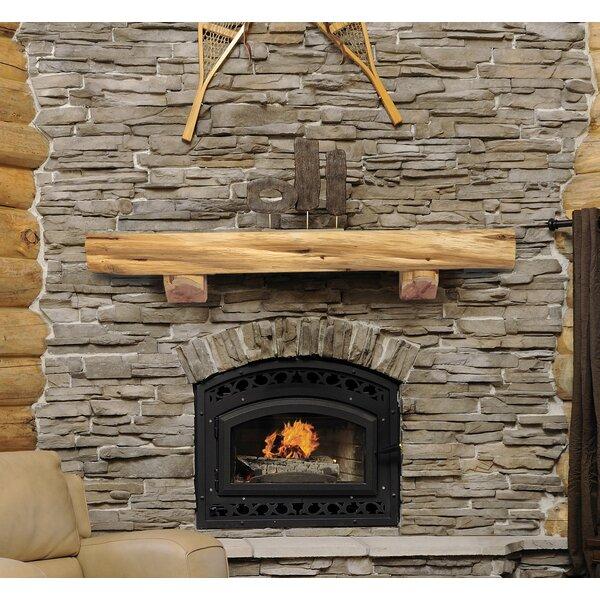Cedar Live Edge Log Fireplace Shelf Mantel By Pearl Mantels