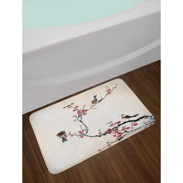 Birds Nature Bath Rug by East Urban Home