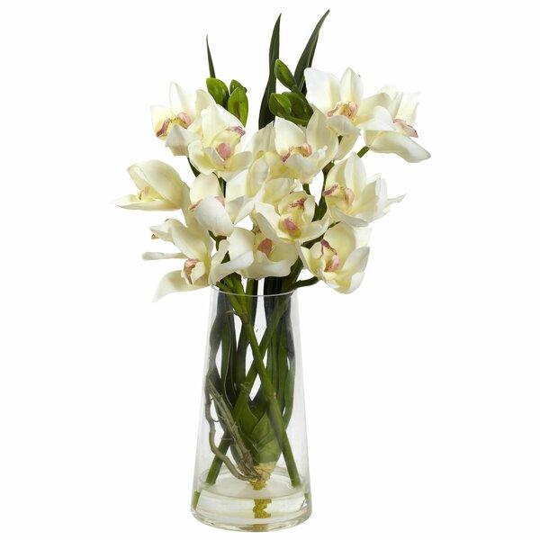 Cymbidium Orchid in Vase by Andover Mills