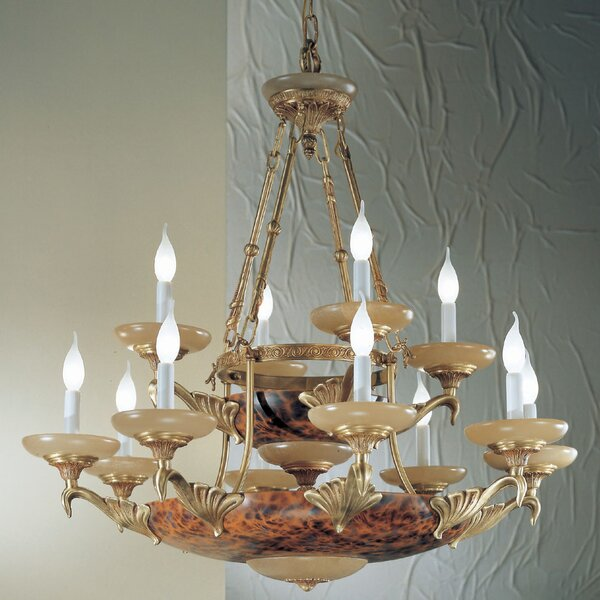 Queen Anne II 14-Light Candle Style Tiered Chandelier by Classic Lighting Classic Lighting