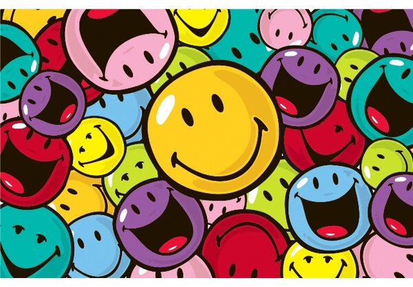 Smiley World Smiles and Laughs Area Rug by Fun Rugs