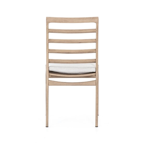 Lindel Teak Patio Dining Chair with Cushion by Foundry Select