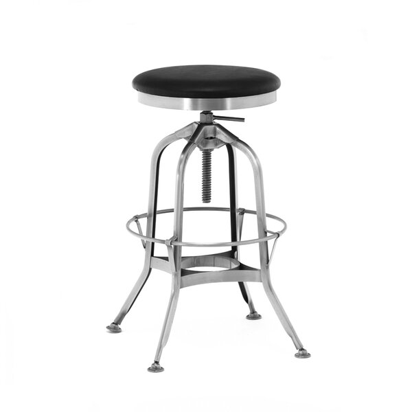 Desrochers Adjustable Height Swivel Bar Stool by Williston Forge