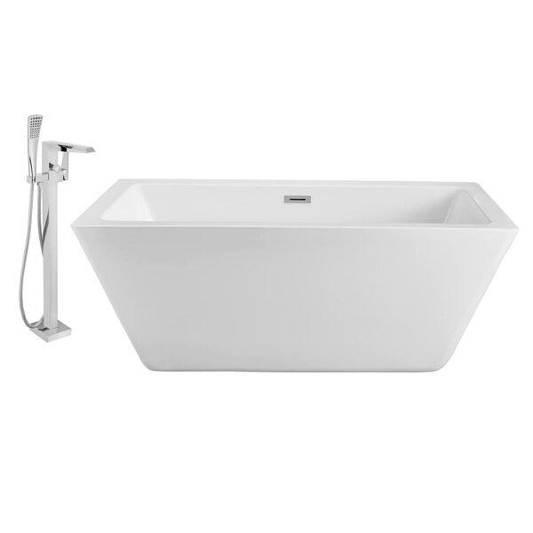 70 x 32 Freestanding Soaking Bathtub by Streamline Bath