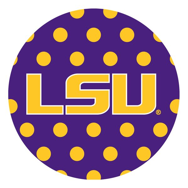 Louisiana State University Dots Collegiate Coaster (Set of 4) by Thirstystone