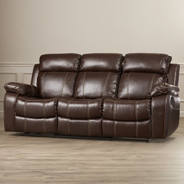 Chestnut Reclining Sofa by Darby Home Co