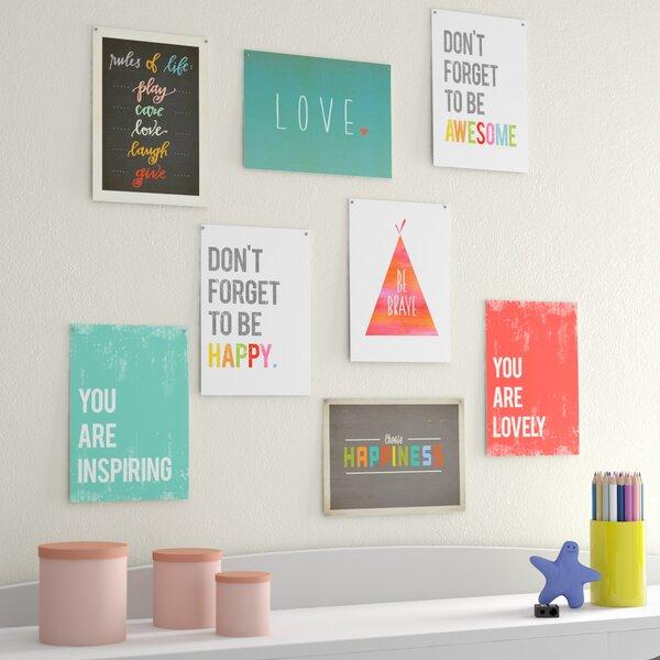 Lavonne The Rules 8 Piece Paper Print Set by Viv + Rae