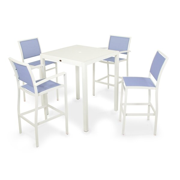 Bayline™ 5 Piece Bar Height Dining Set by POLYWOOD®