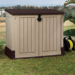 Store It Out MIDI 4 Ft. 3 In. W X 2 Ft. 5 In. D Plastic Horizontal Garbage  Shed