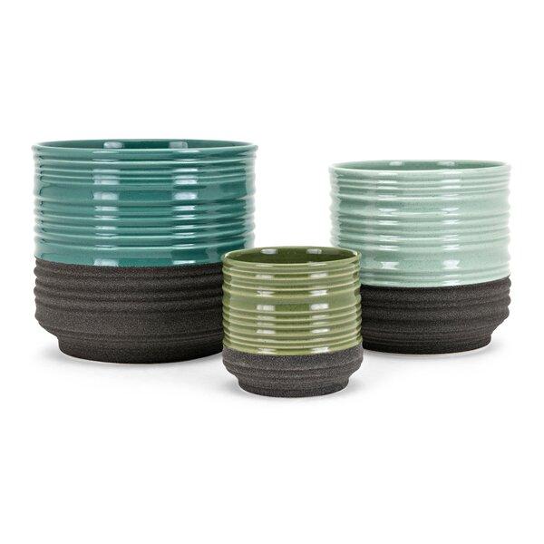 Geoff 3-Piece Pot Planter Set by Highland Dunes