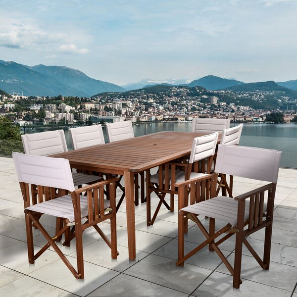 Turgeon International Home Outdoor 9 Piece Dining Set by Highland Dunes