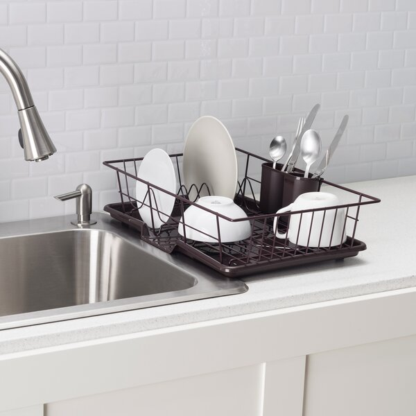 3 Piece Dish Rack With Tray By Home Basics.