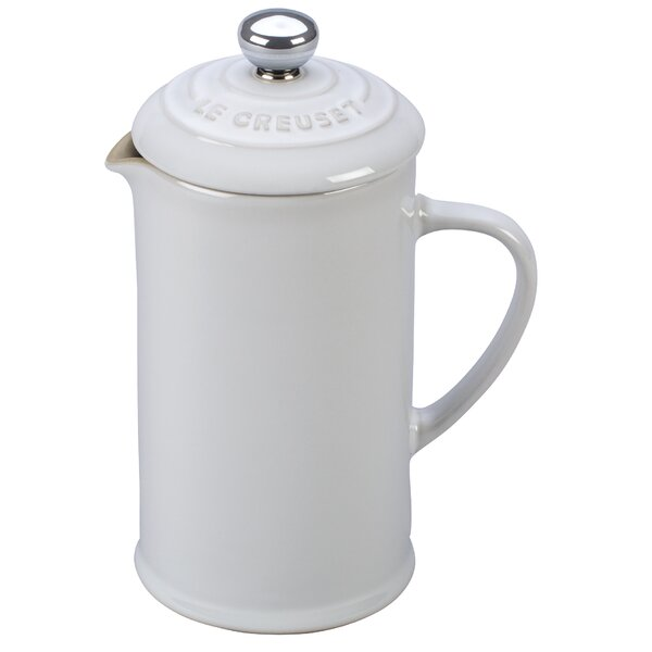 1.5-Cup Stoneware Petite French Press Coffee Maker by Le Creuset