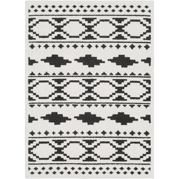 Rhodes Bohemian Ivory/Black Area Rug by Union Rustic