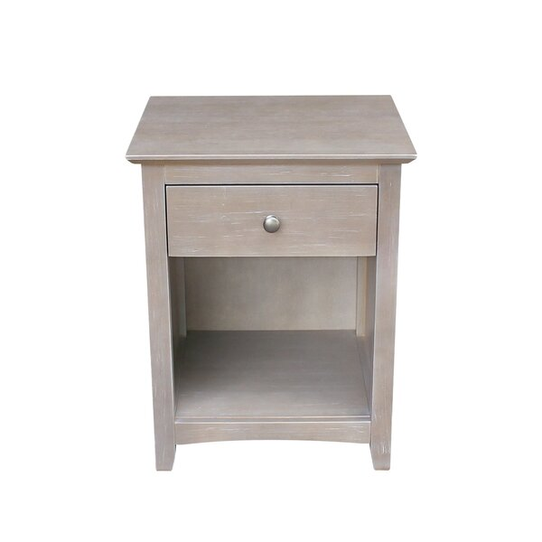 Aries 1 Drawer Nightstand by August Grove
