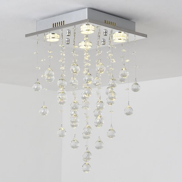 Batres 4 - Light Unique Tiered Chandelier by Everly Quinn Everly Quinn