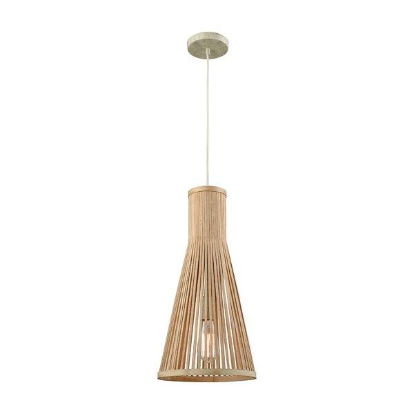Rothbury 1-Light Cone Pendant by Bay Isle Home