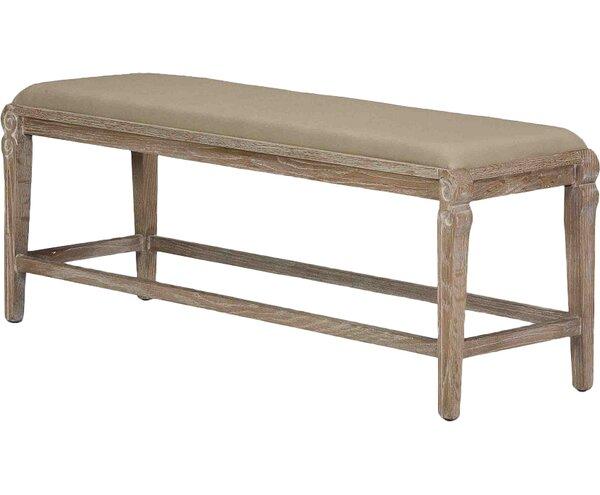 Smith Building Parlor Wood Bench by Sarreid Ltd