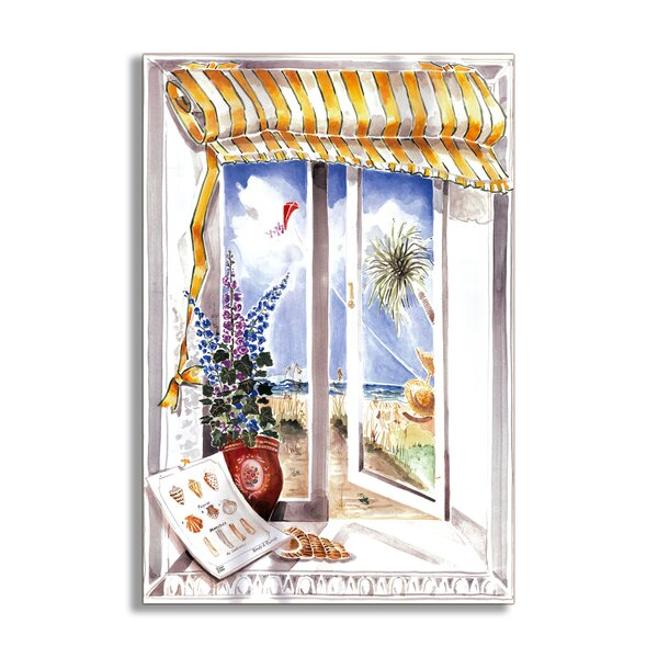 Shells and Kite Faux Window Scene Wall Plaque by Stupell Industries