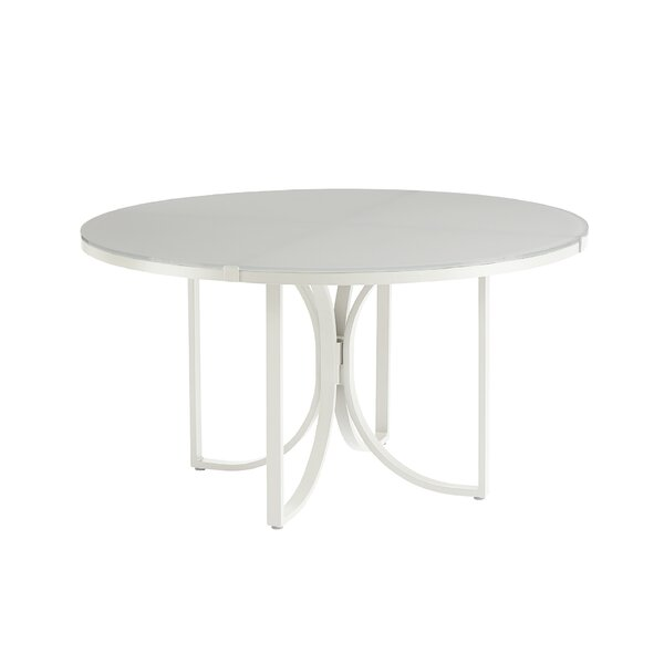 Dani Outdoor Round Dining Table by Highland Dunes