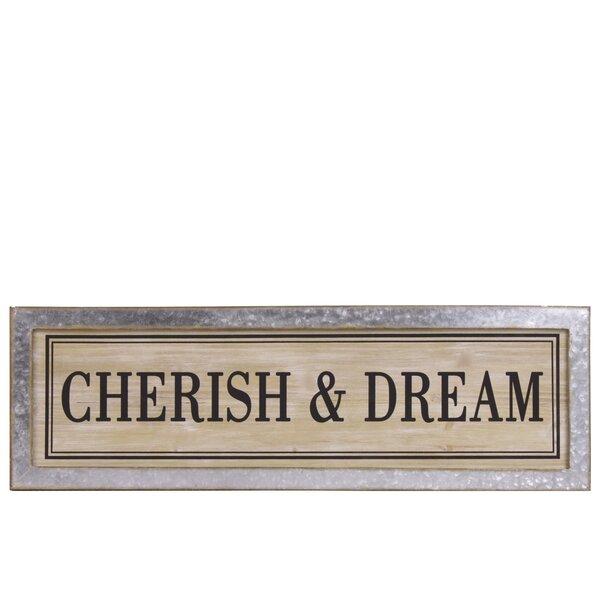 Wooden Alphabet Cherish & Dream Wall Decor by Charlton Home