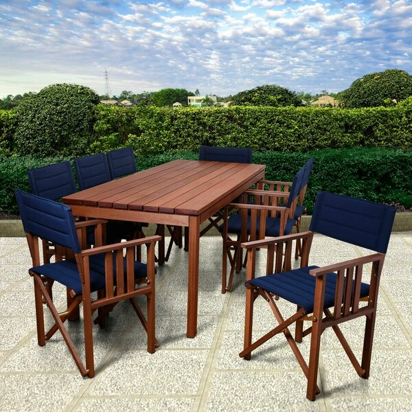 Sanor Patio 9 Piece Dining Set by Beachcrest Home