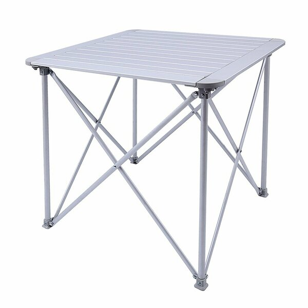 Amedee KingCamp Aluminum Alloy Lightweight Portable Strong Stable Roll Up Folding Camping Table by Freeport Park