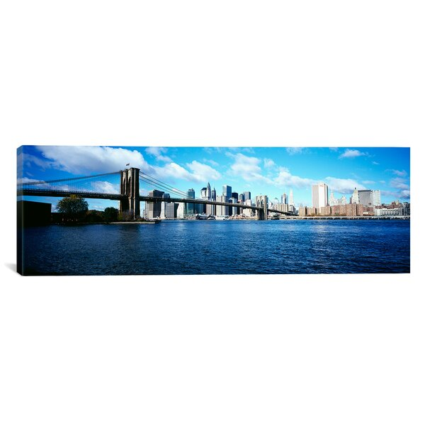 Panoramic Brooklyn Bridge, East River, Manhattan, New York City, New York State Photographic Print on Canvas by iCanvas