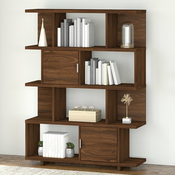 Madison Avenue Large Geometric Bookcase By Kathy Ireland Home By Bush Furniture
