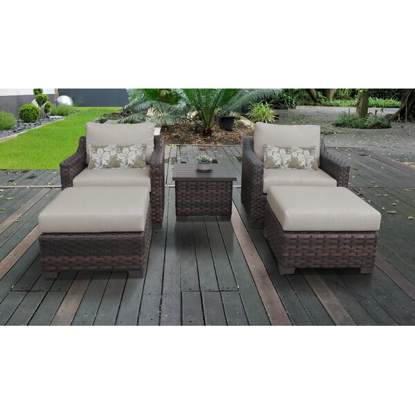 Kathy Ireland Homes & Gardens River Brook 5 Piece Multiple Chair Seating Group by kathy ireland Homes & Gardens by TK Classics