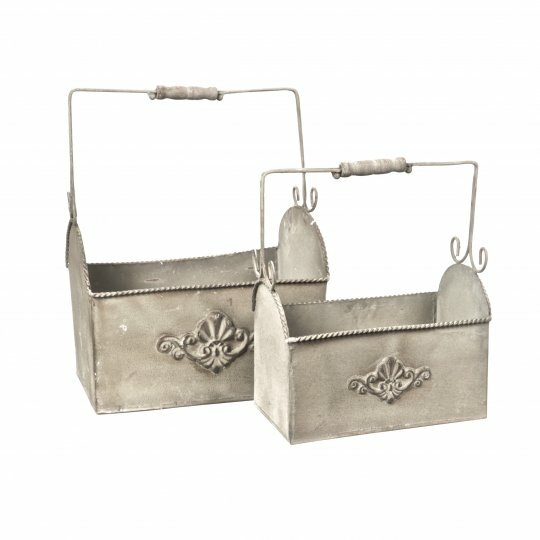 2-Piece Metal Window Box Planter Set by Mr. MJs