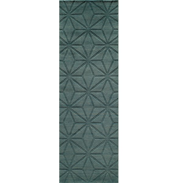 Amacker Hand-Woven Light Blue Area Rug by Langley Street