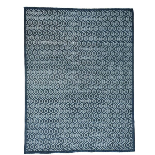 One-of-a-Kind Keesey Knot Oushak Cropped Hand-Knotted Gray Area Rug by Bungalow Rose