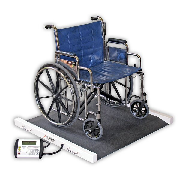 Portable Bariatric Wheelchair Scale by Detecto