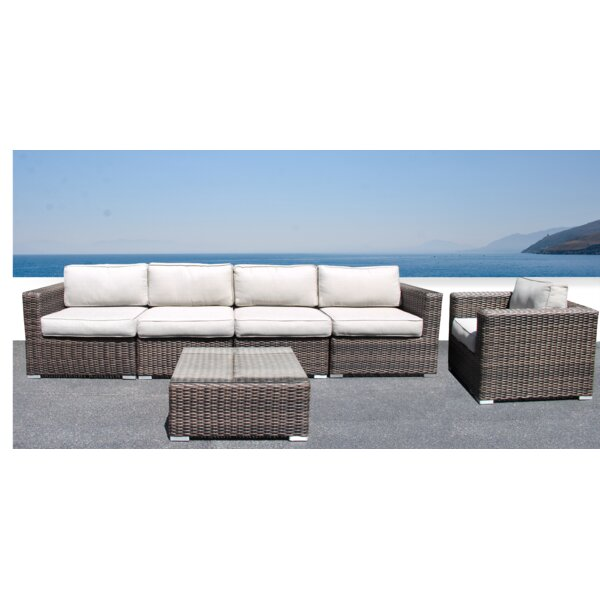 Darvin Sectional Seating Group with Cushions by Sol 72 Outdoor