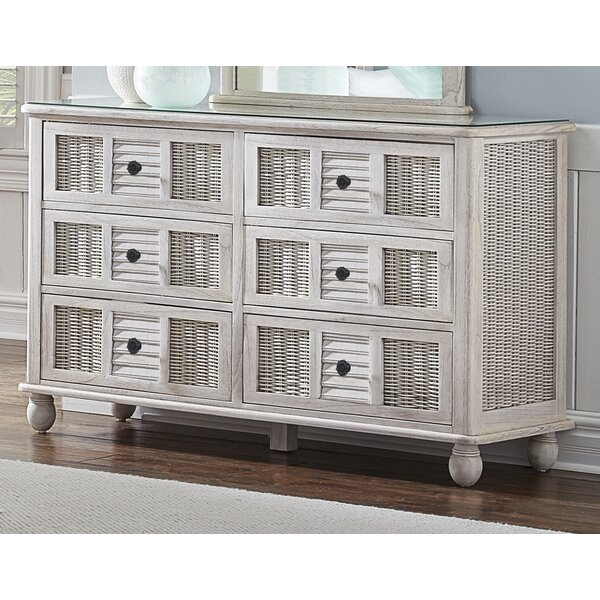 Miah 6 Drawer Double Dresser by Rosecliff Heights