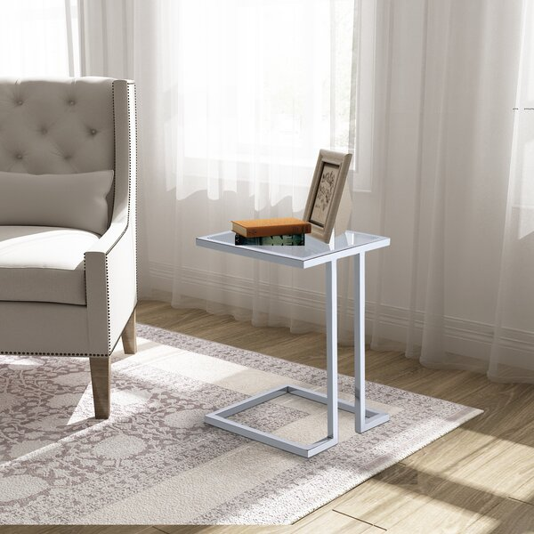 Raisa Glass Top C End Table By Latitude Run