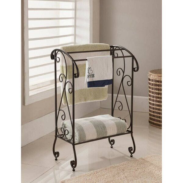 Free Standing Metal Towel Stand by Benzara